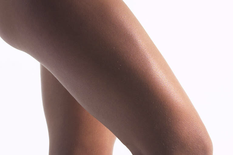 A woman's thigh